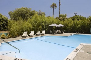 Knights Inn pool in Claremont CA