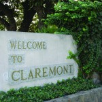 Welcome to Claremont CA sign