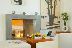 Hotel Casa 425 lobby in Claremont CA