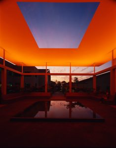 James Turrell Skyspace in Claremont at Pomona College