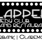 logo of Flappers Comedy Club in Claremont CA