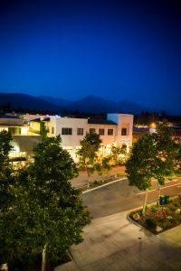 Claremont CA at dusk