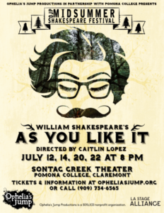 2018 Midsummer Shakespeare Festival in Claremont - As You Like It