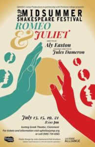 2018 Midsummer Shakespeare Festival in Claremont – Romeo and Juliet