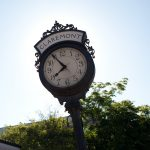 Claremont CA train depot clock