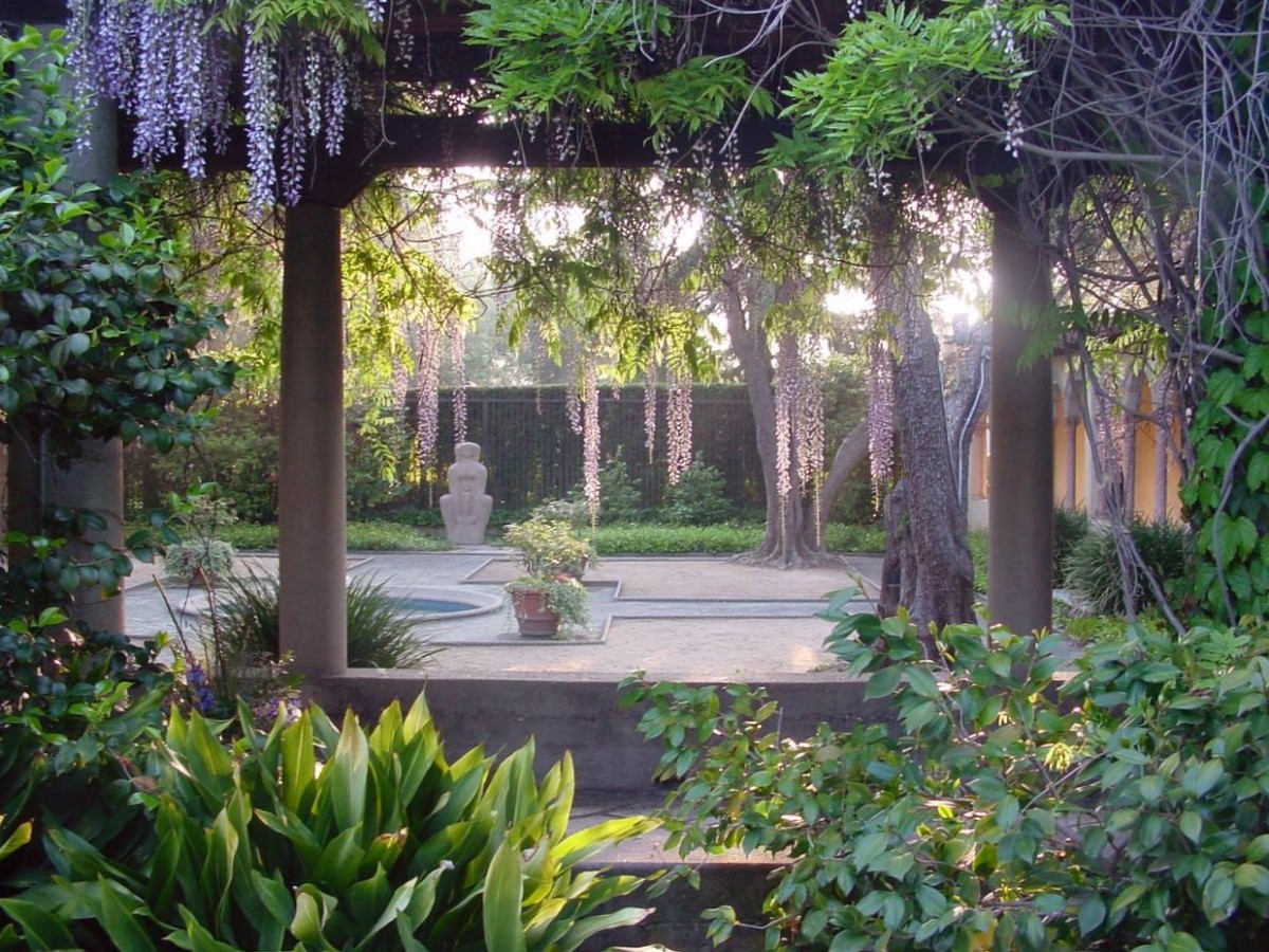 Margaret Fowler Garden at Scripps College in Claremont CA