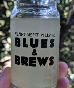Claremont Blues and Brews glass