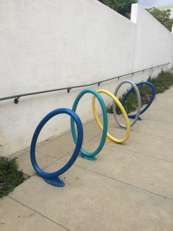 Bike racks in Claremont