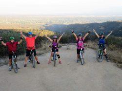 Mountain biking at the Claremont California loop