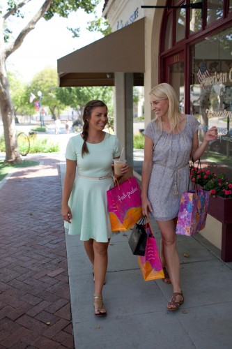 Shopping in Claremont, California, includes a number of boutiques that carry Fair Trade Certified merchandise.